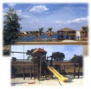 Kids Playground and Lakeside Cabana